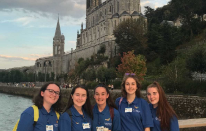 Manor House students in Lourdes